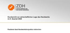 ZDH-Konjunkturbericht: 2. Quartal 2020