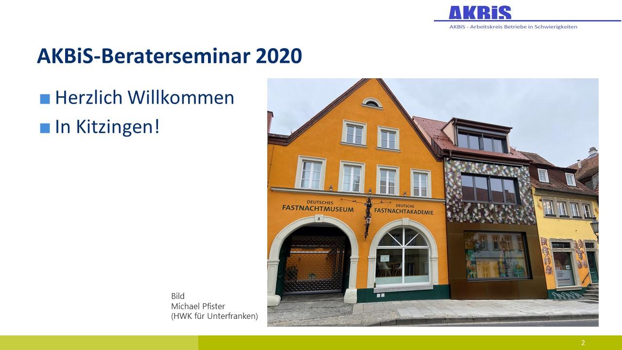 AK BiS-Seminar: Willkommen in Kitzingen